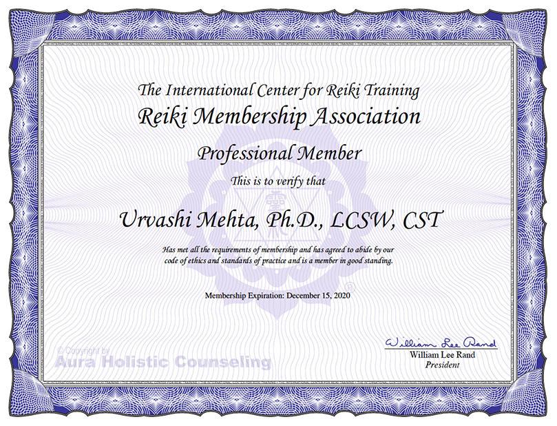 Reiki Member Certificate-w